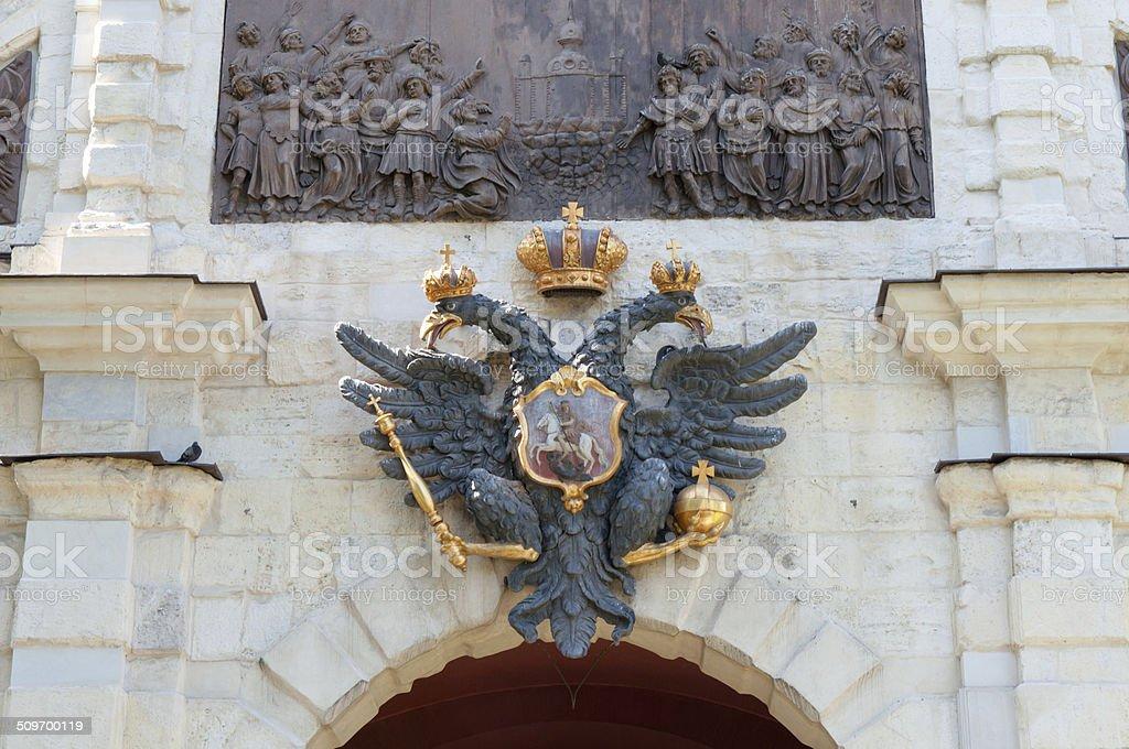 Symbol of Russia, double-headed eagle stock photo