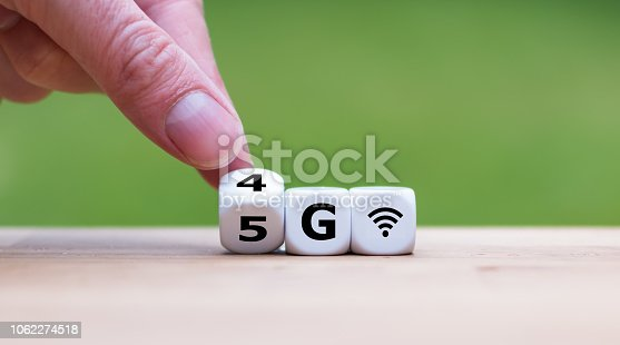 istock Symbol of the change from 4G to 5G 1062274518