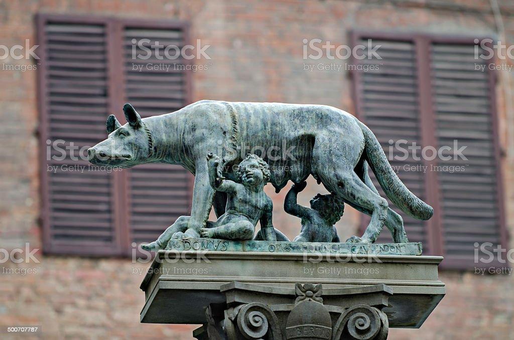 Symbol of the city of Siena stock photo