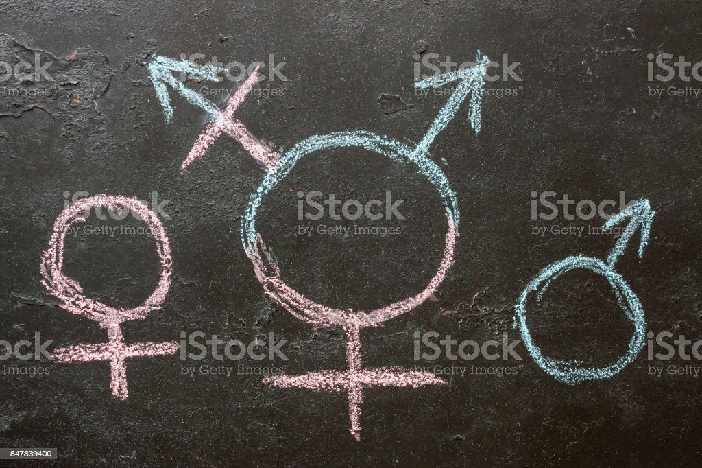 Symbol für Transgender und weibliche und männliche Geschlecht Symbole – Foto