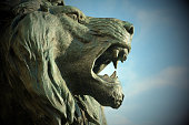 Symbol of Venice. The St. Marks´s Lion at saint Marco Square. Italy
