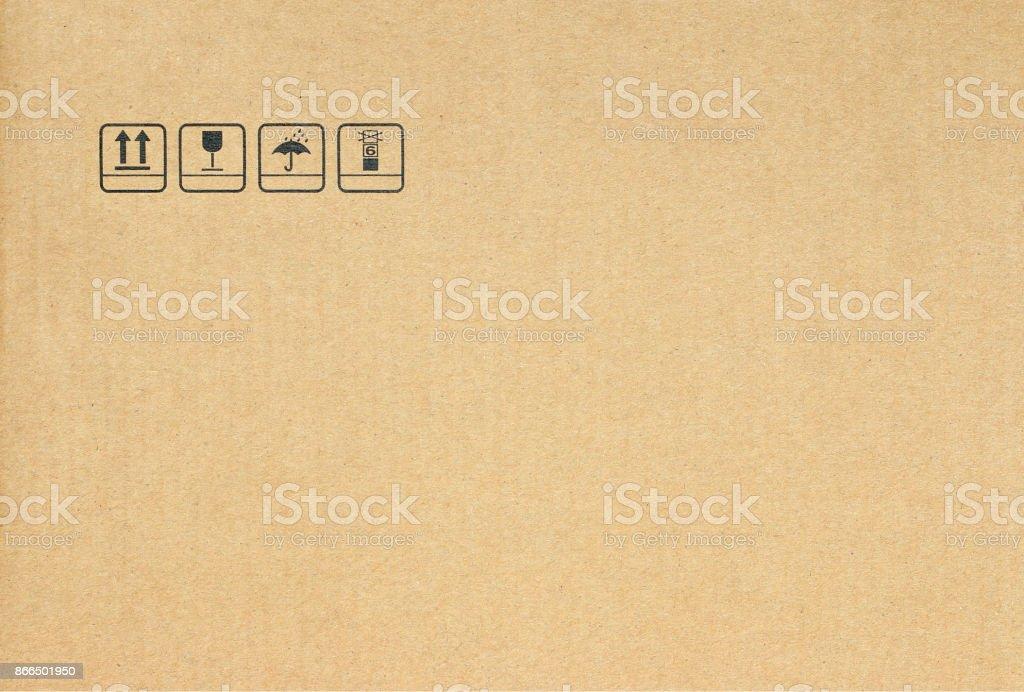 symbol on cardboard background stock photo