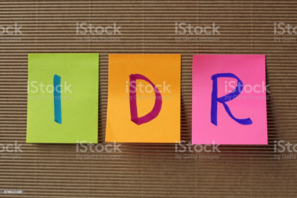 Idr Symbol On Colorful Sticky Notes Stock Photo More Pictures Of