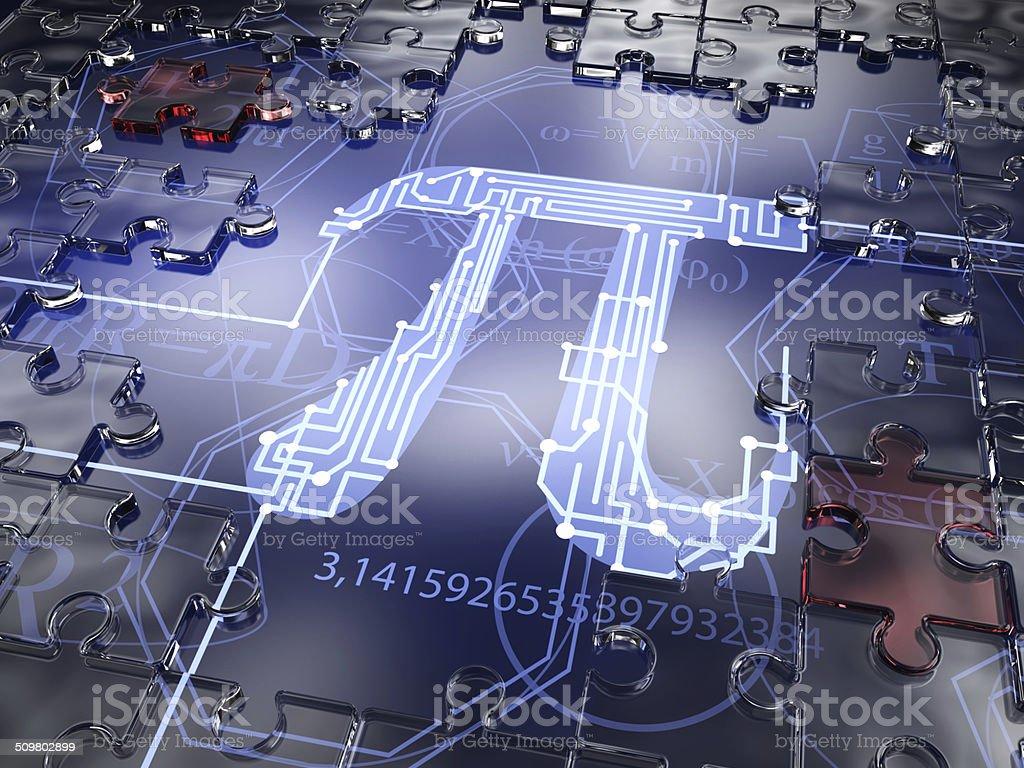 Symbol Pi stock photo