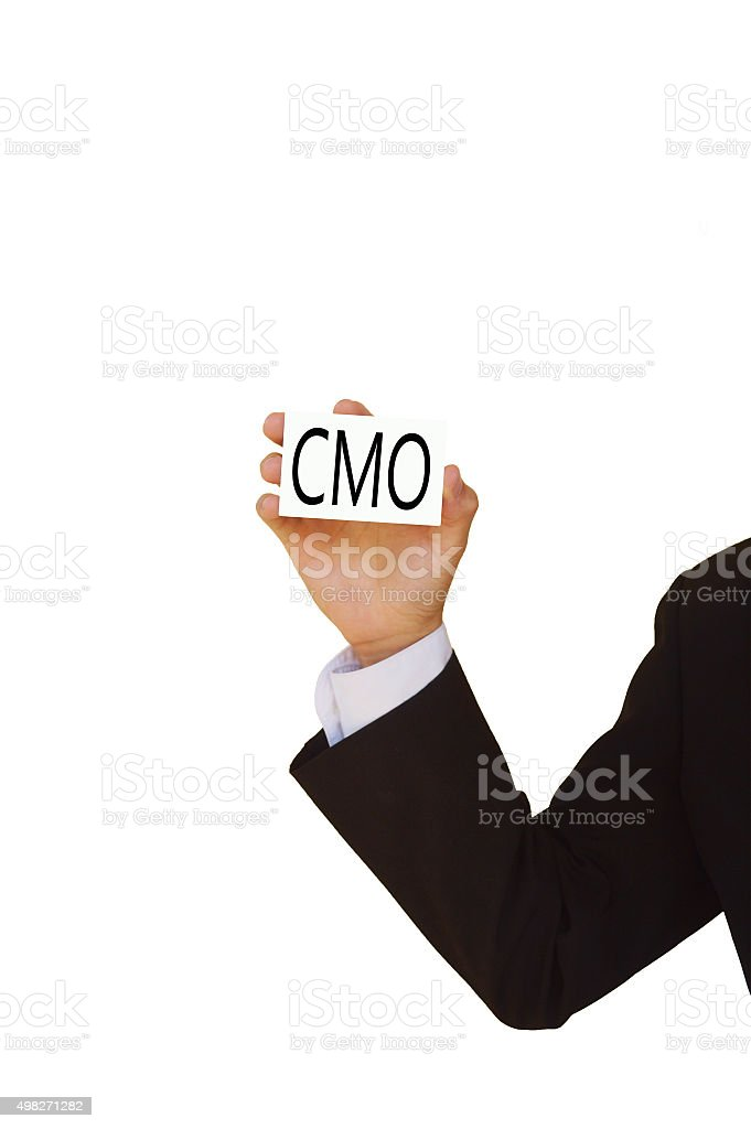 CMO symbol stock photo
