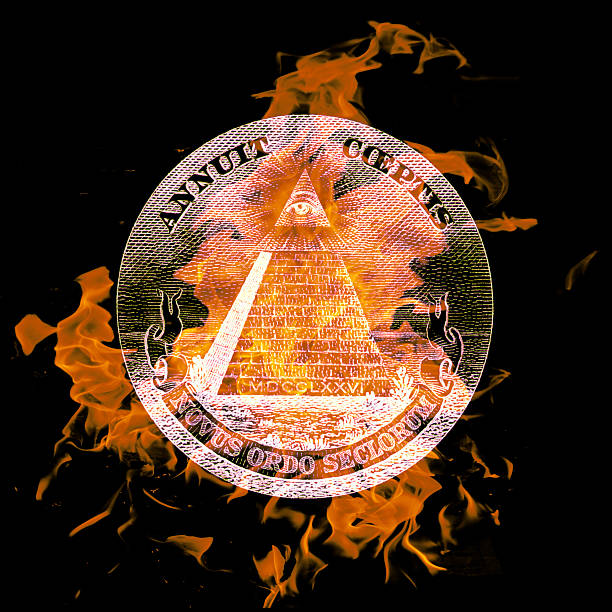 symbol digital composition of a burning symbol cryptical stock pictures, royalty-free photos & images