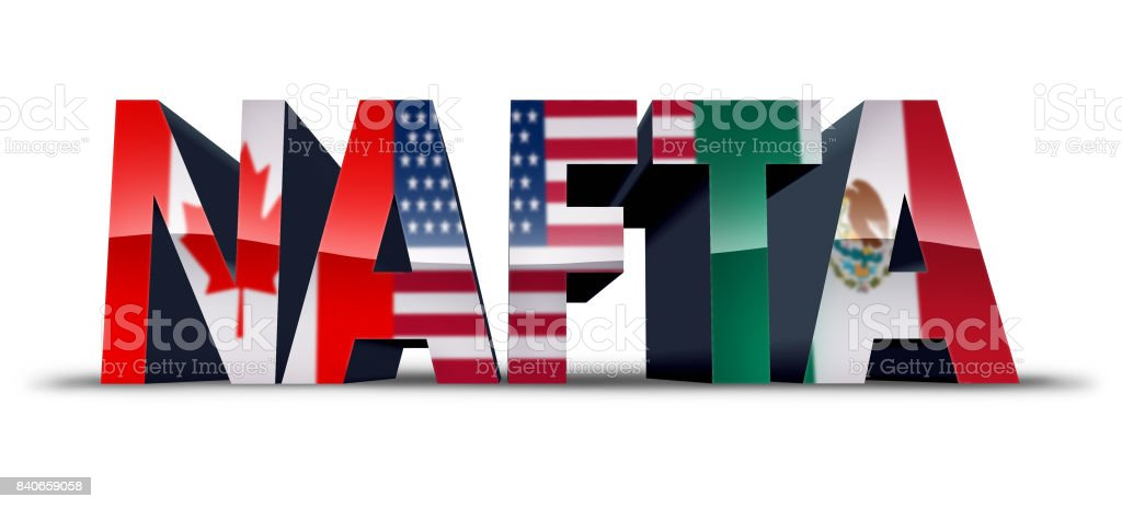 NAFTA Symbol stock photo