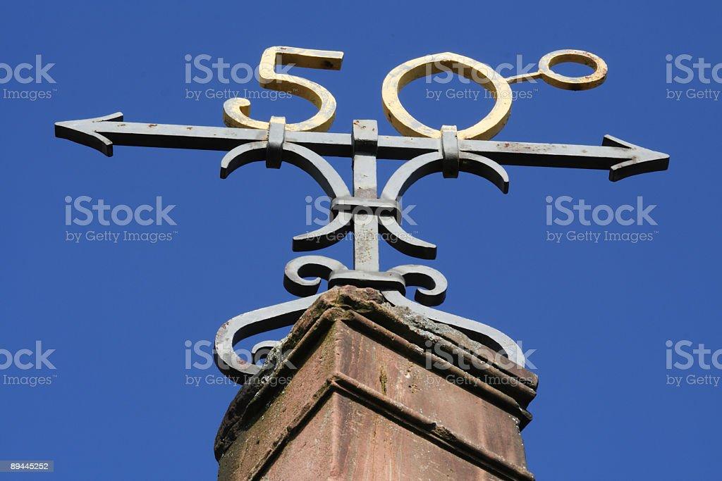 Symbol  'the 50th degree of latitude' royalty-free stock photo