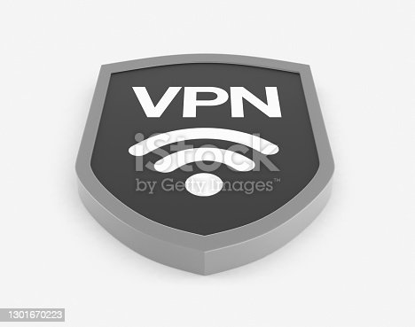 VPN Symbol. Virtual Private Network Concept