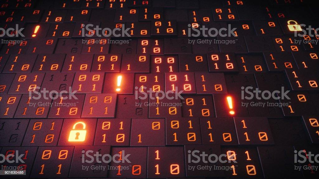 Symbolische Datenstruktur mit Warnungen – Foto