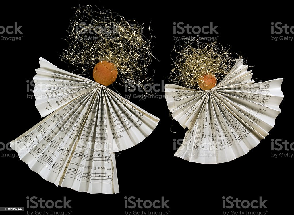 symbolic folded paper angels royalty-free stock photo