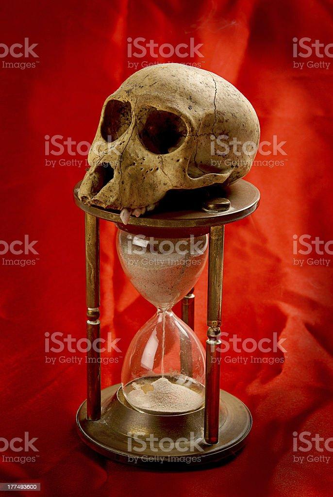 Symbolic Hourglass royalty-free stock photo