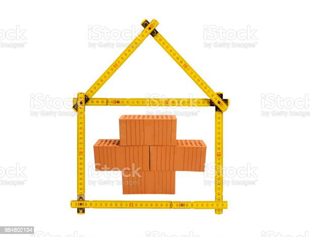Symbolic house construction with brick tools and yardstick picture id984802134?b=1&k=6&m=984802134&s=612x612&h=xpiojw7eh7o88q efp vaz gi5f 6hhluzp6luffaxe=