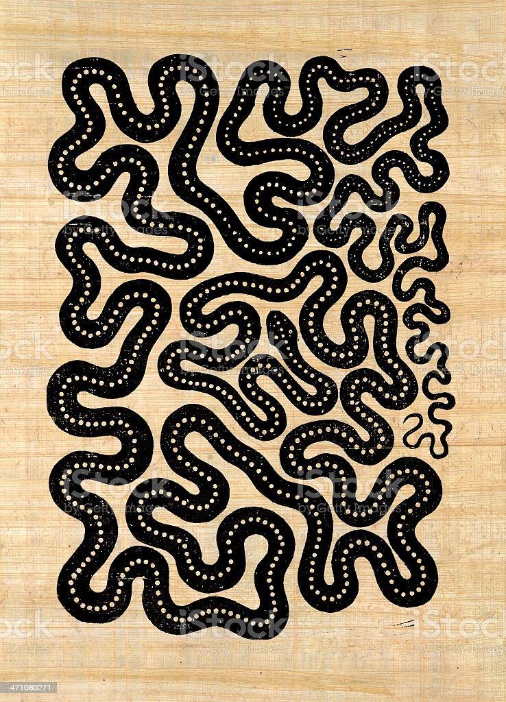 symbolic snake pattern stock photo