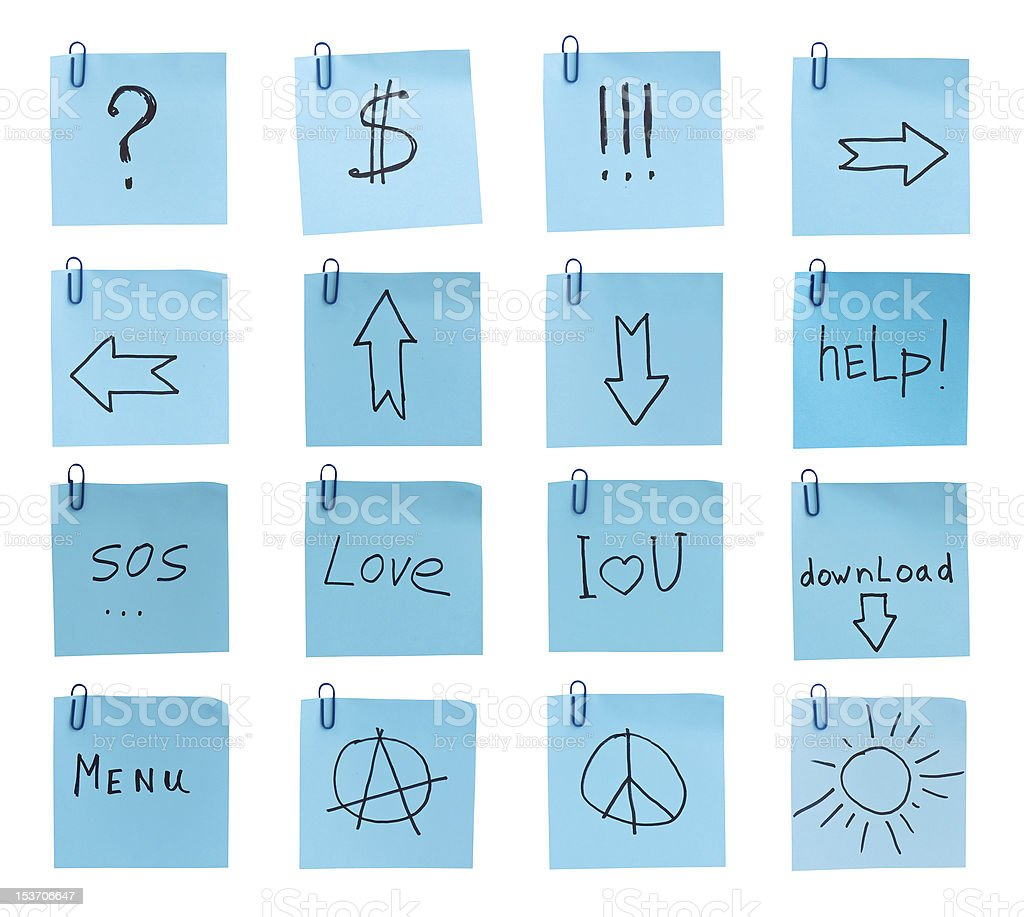 symbols and signs royalty-free stock photo