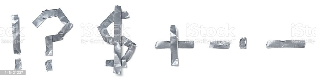 Symbols Made Out Of Tape Stock Photo Istock
