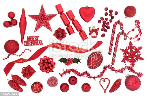 istock Symbols of Christmas in Red 544591490