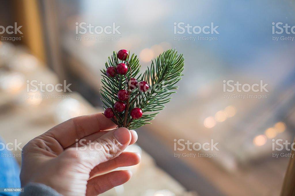 Símbolos de Natal foto de stock royalty-free
