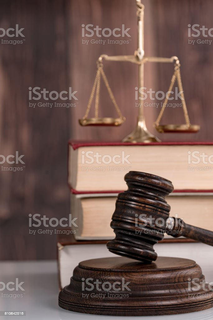 Symbols of Law and Justice stock photo