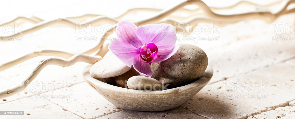 Symbols Of Purity With Stones And Pebbles In Cup Stock Photo More