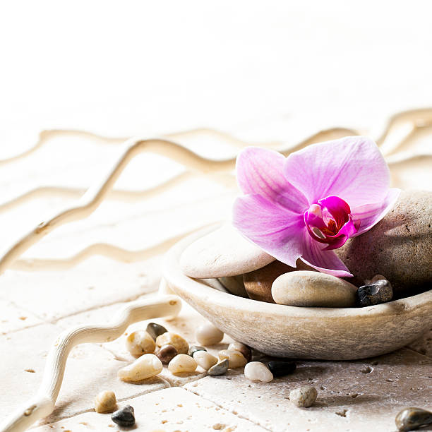 Symbols Of Purity With Stones And Pebbles Stock Photo More