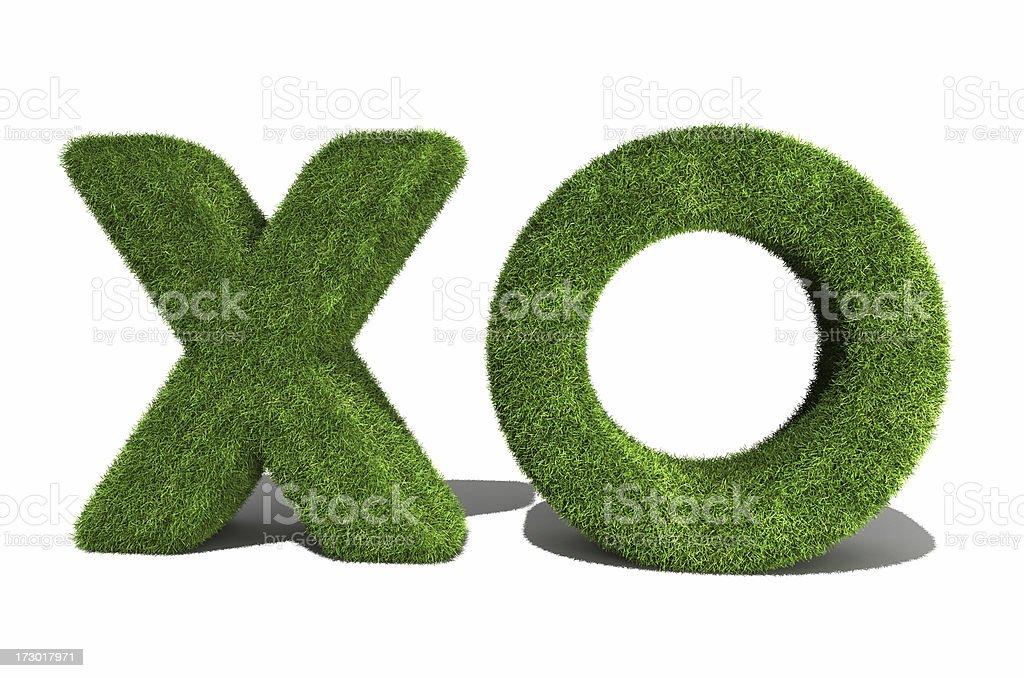 X.O. symbols royalty-free stock photo