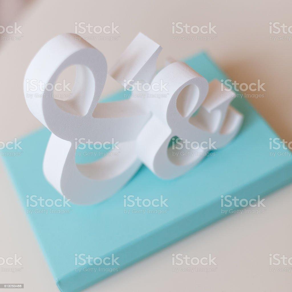 symbols && with blue box stock photo