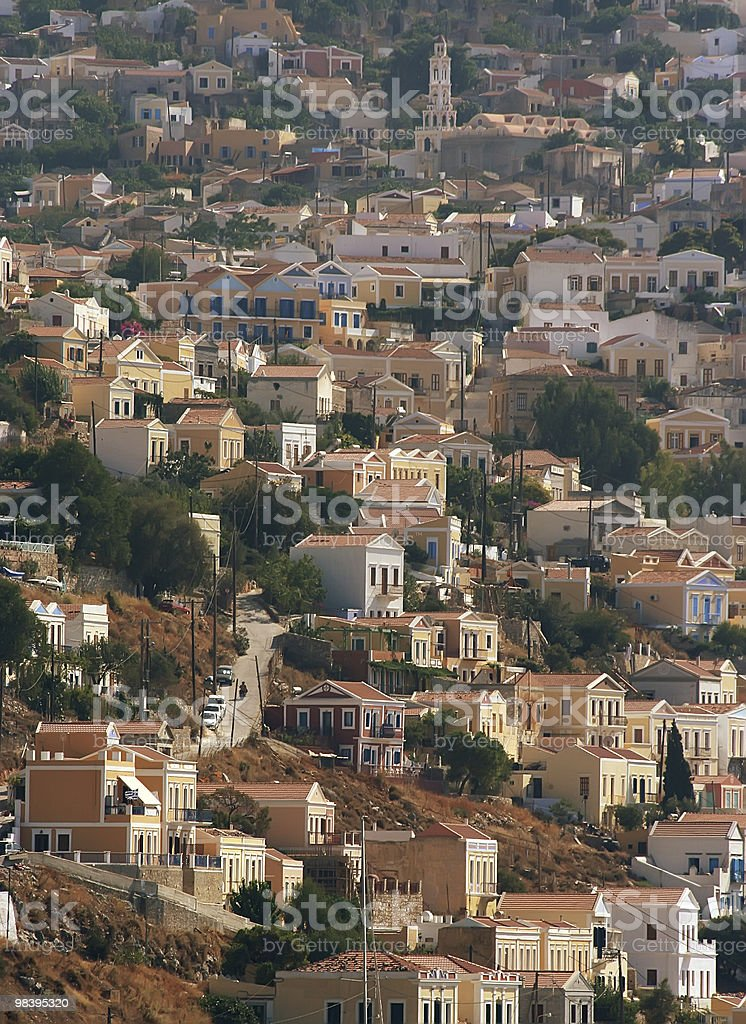 Symi, Grecia foto stock royalty-free