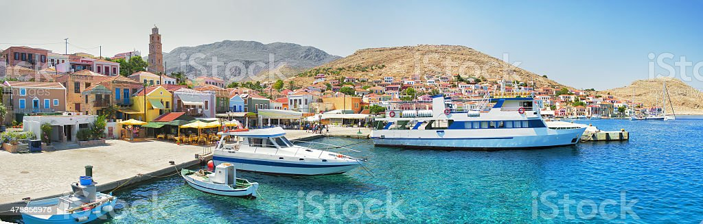 Symi island stock photo