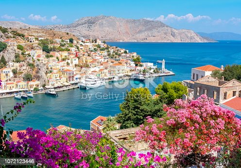 istock Symi town cityscape, Dodecanese islands, Greece 1072123446