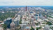 Symmetric Aerial of Atlanta Skyline