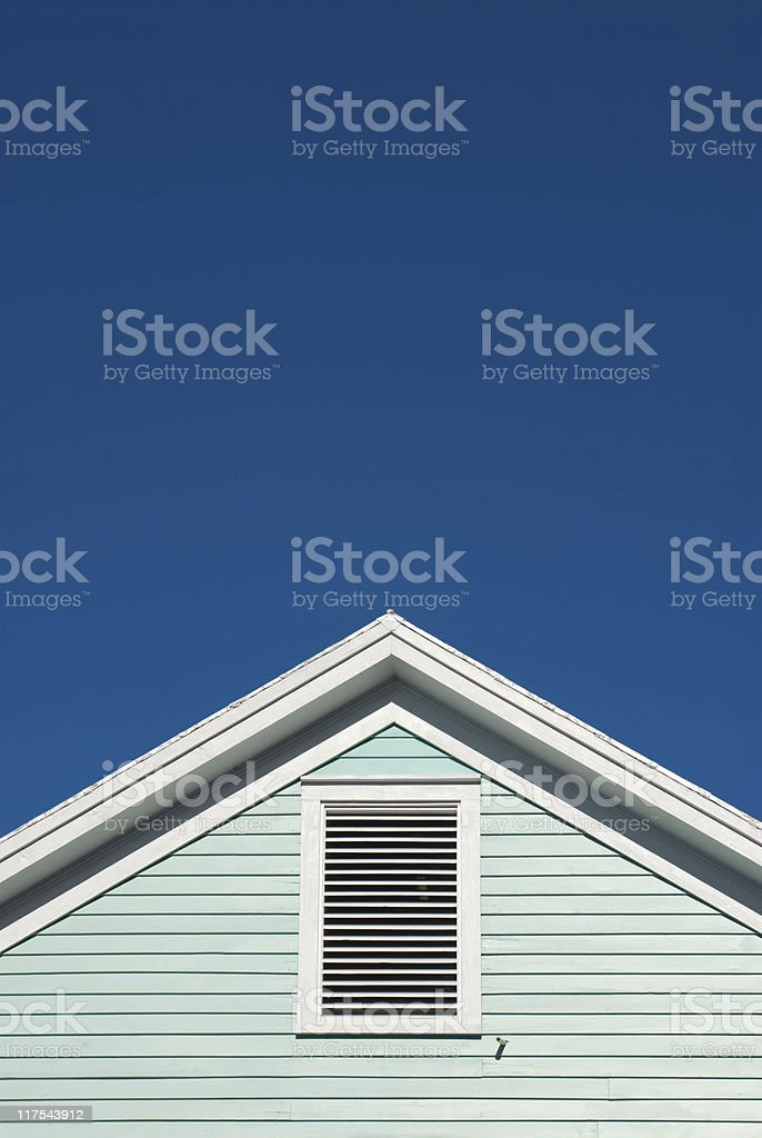 Symmetric roof gable stock photo