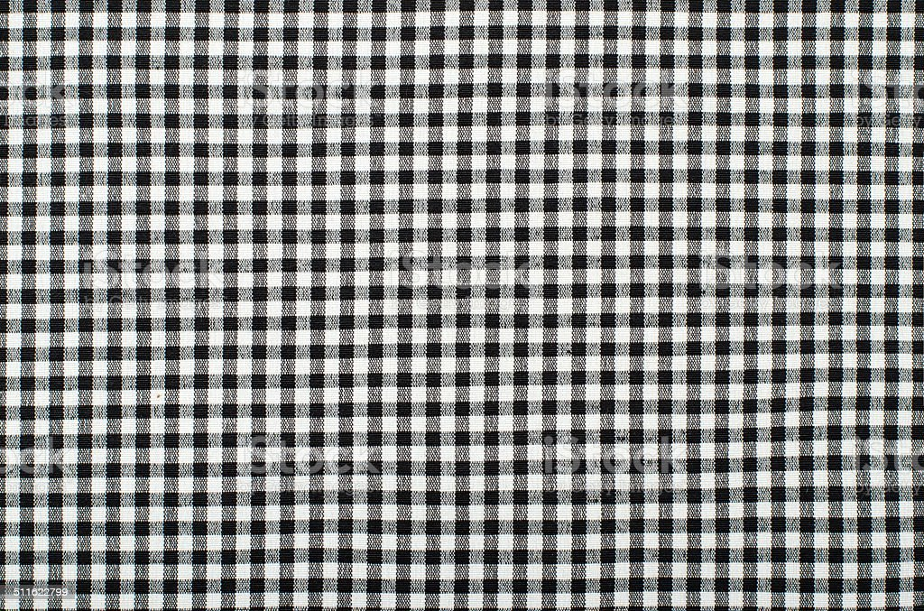 Symmetric square check tablecloth pattern. stock photo