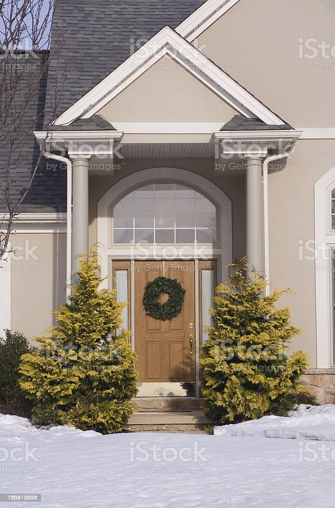 Symmetrical Front Door royalty-free stock photo