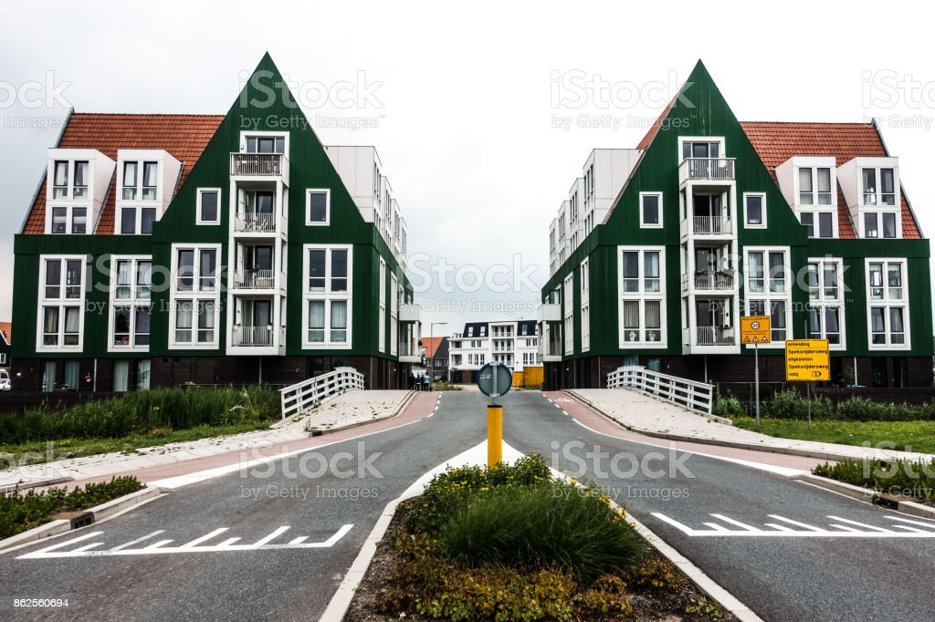 Symmetrical homes royalty-free stock photo
