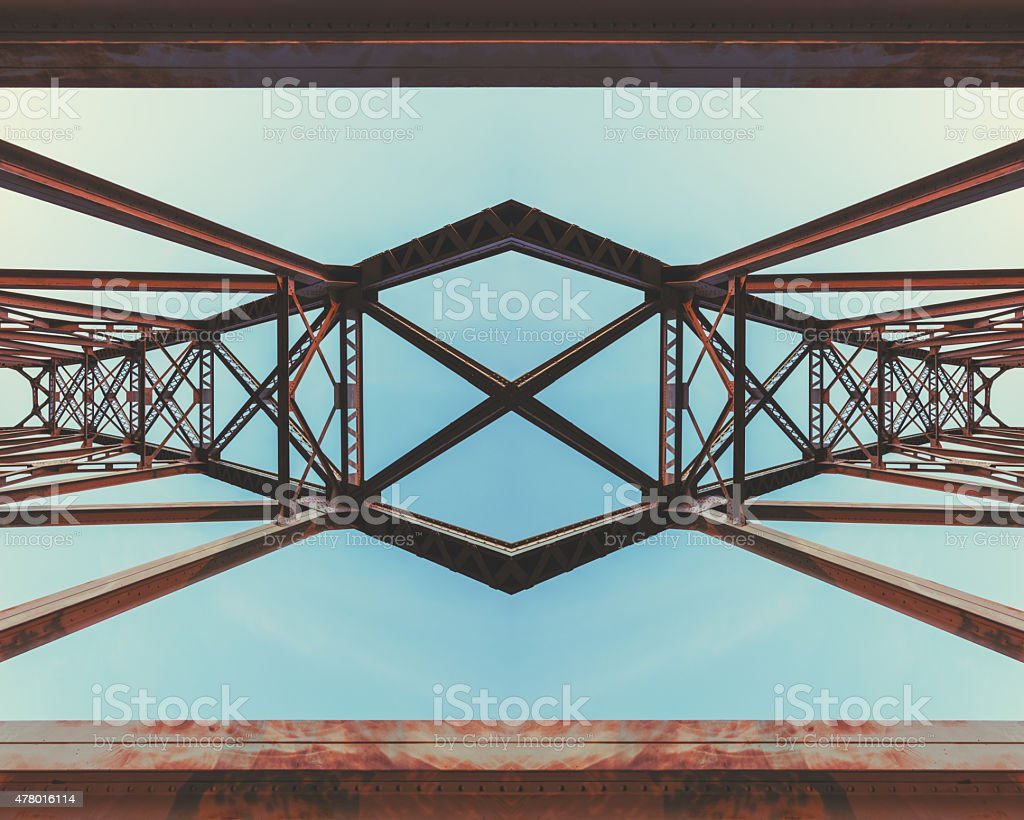 Symmetrical Railway Bridge stock photo