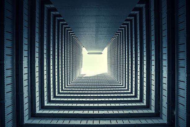 symmetrical residential buildings in hong kong, china - symmetry stock photos and pictures