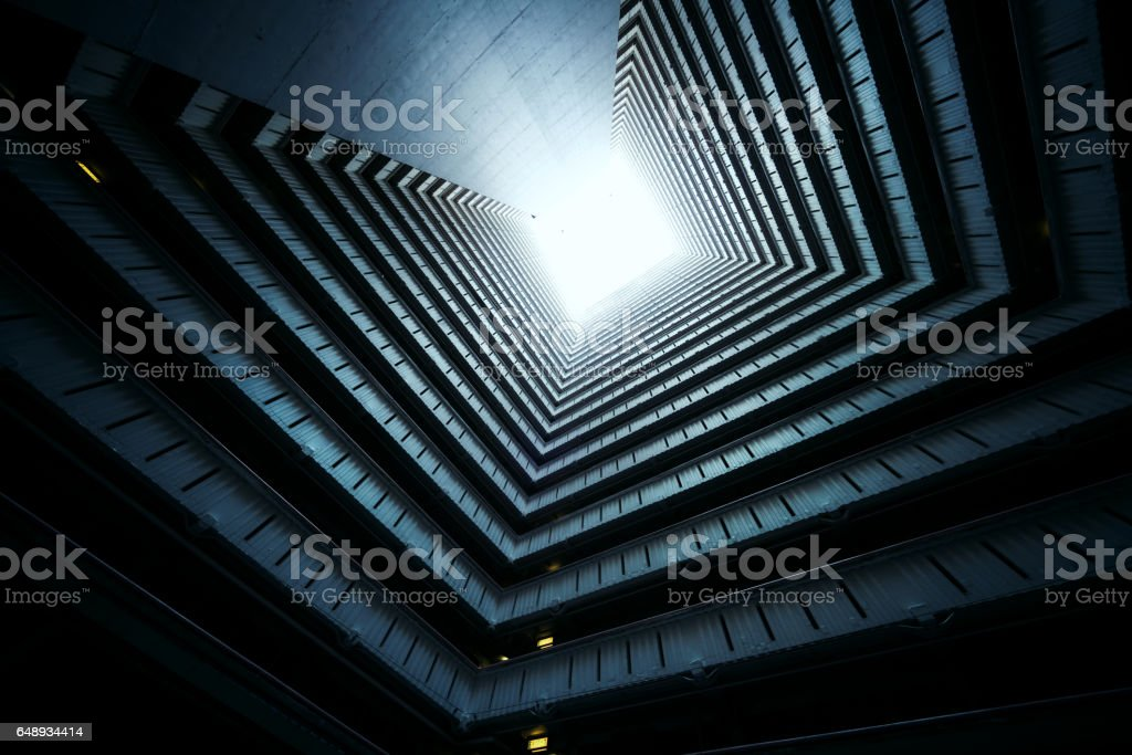 Symmetrical Residential buildings in Hong Kong, China stock photo