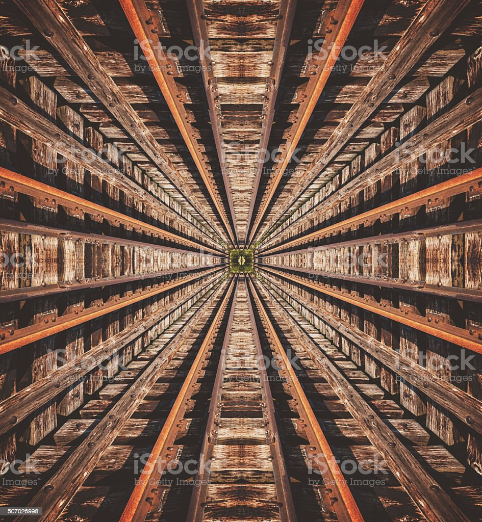 Symmetrical Shaft stock photo