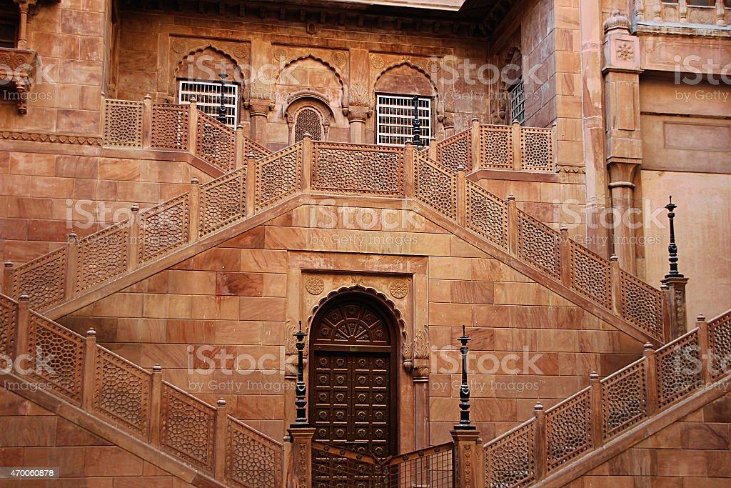 Symmetrical Stone Staircase stock photo