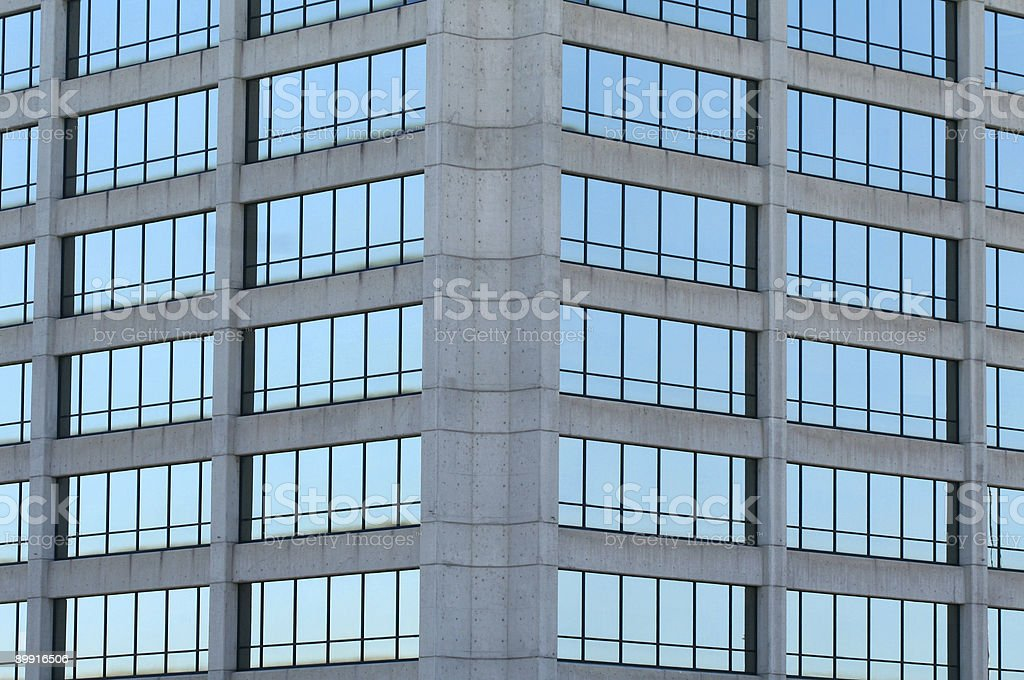 Simétrico Tower Windows foto de stock libre de derechos