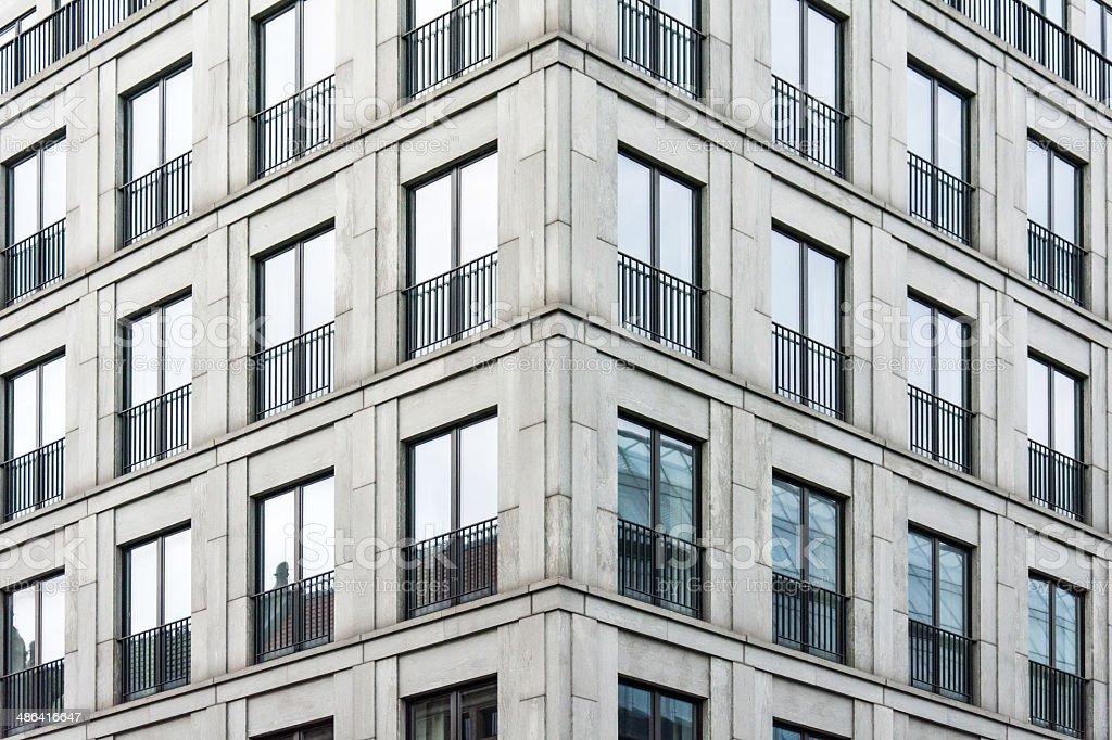 Symmetrical windows pattern stock photo