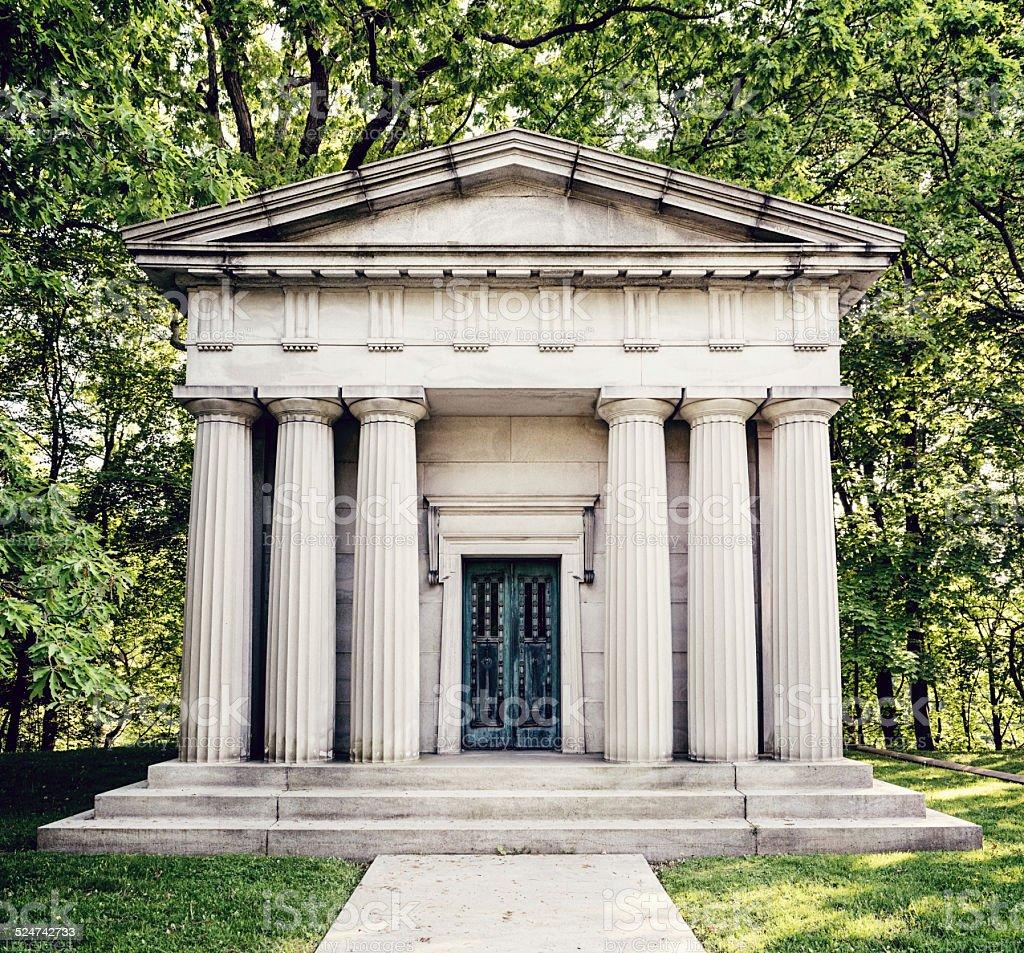 Symmetry in the Cemetery stock photo