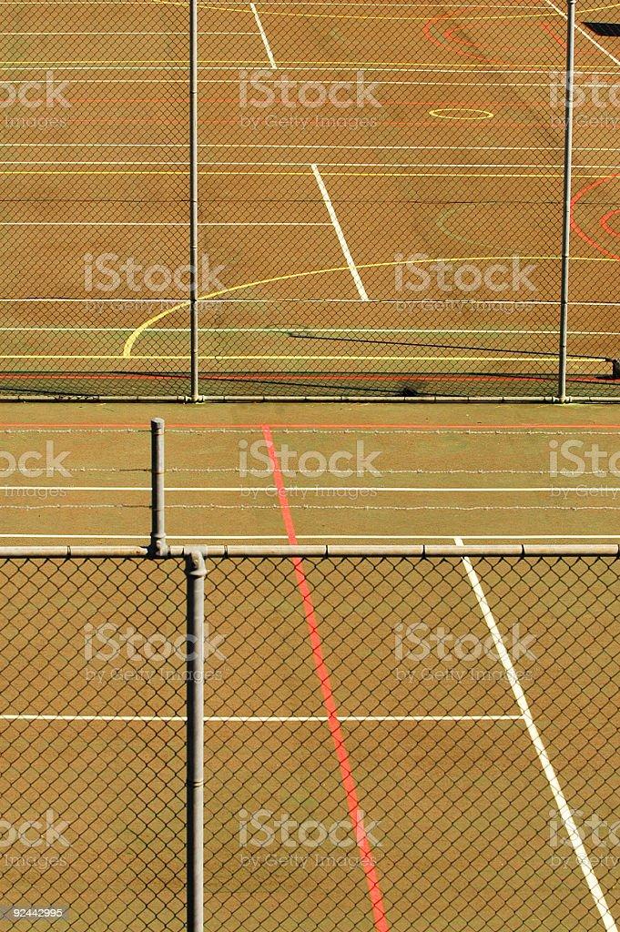 Symmetry of Tennis stock photo