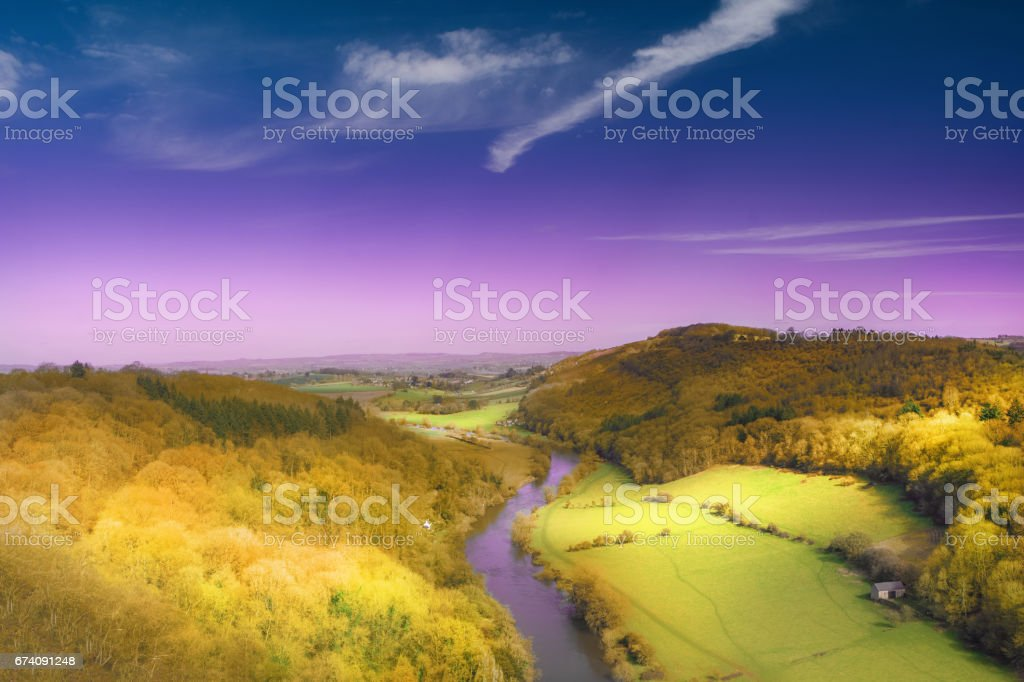 Symonds Yat rock view stock photo
