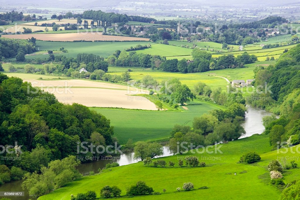 symonds yat valley of the river wye herefordshire uk stock photo
