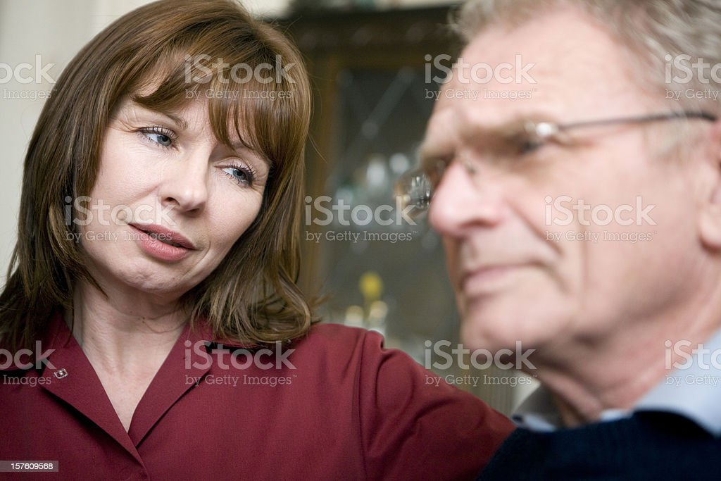 sympathetic care worker royalty-free stock photo