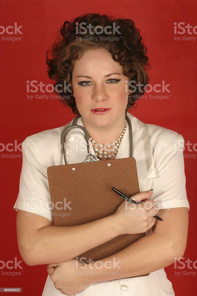 Sympathetic nurse stock photo