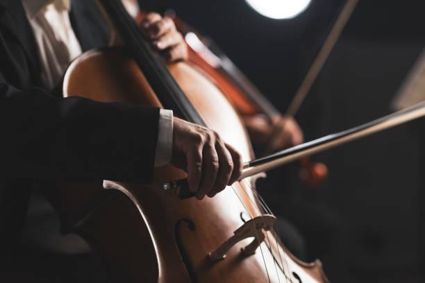 Symphonisches Orchester auf der Bühne – Foto