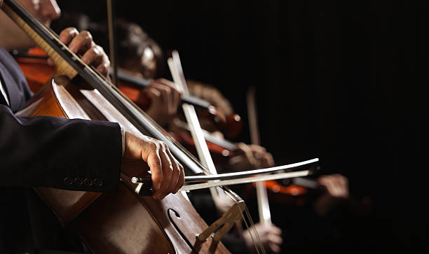 Symphony concert stock photo